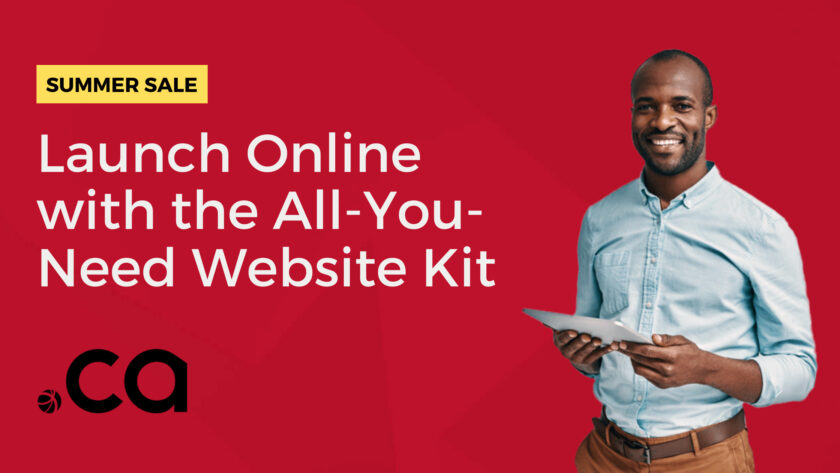 All you need website kit from Webnames - Summer Sale