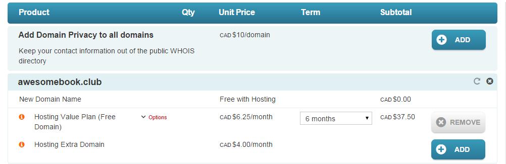 Free .CLUB domain name