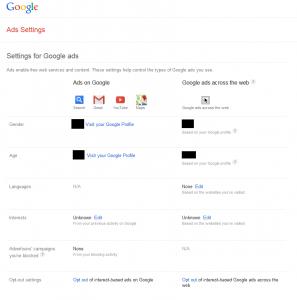 Opt In Google