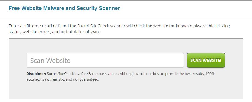 Sucuri SiteCheck   Free Website Malware Scanner