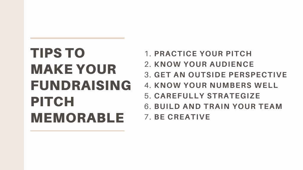 7 tips for how to make a memorable fundraising pitch
